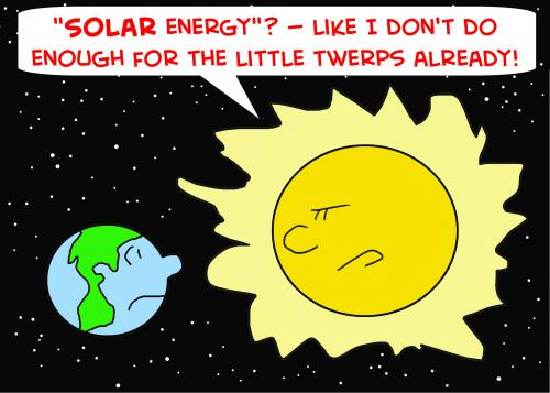 Solar Energy Sun Cartoon